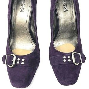 Kenneth Cole Reaction Suede Heels Turn Ur Luck
